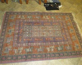 4' x 6' rug with horsemen