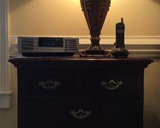 Thomasville night stand (pair); Bose Wave clock radio; lamp (pair)