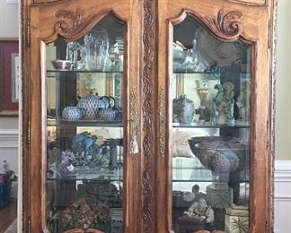 Hekman hand carved Curio/China cabinet