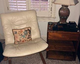 Original Siesta Chair with original booklet,  Night Stand Kipp Stewart for Drexel