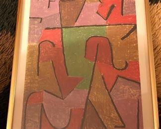 Paul Klee pastel, penciled signed upper left corner
