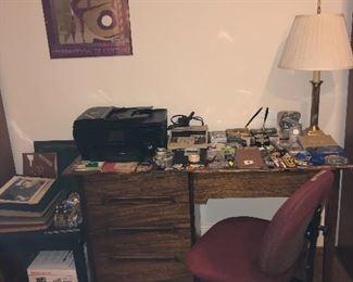 Drexel mid-century walnut desk