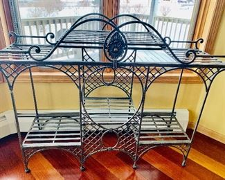 Iron bakers rack or plant stand