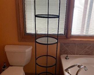 Tall 4 tier glass Shelf