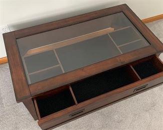 Display top coffee table