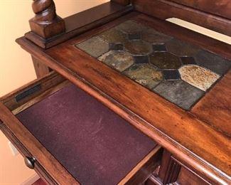 Inside felt lined drawers