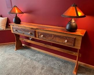 Two drawer rustic table
