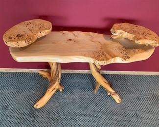 Rustic natural log Table