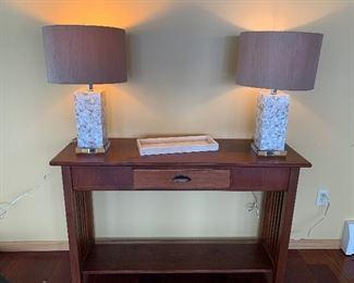 Hall / Sofa Table, Matching lamps