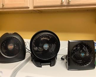 Numberous VORNADO FANS on all kinds some heaters too