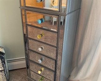 Mirrored & Silver Lingerie Chest Pier One
