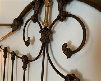 Headboard with up close detail