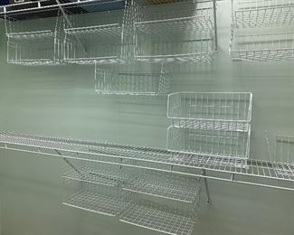 wire basket attachments for closets