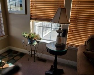 End tables, lamps, plant stand