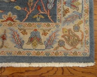 "Hand Knotted Ethan Allen Rug includes wool padding underneath. 74""x107"""