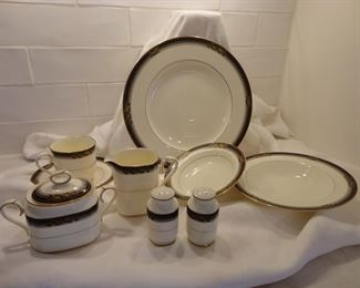 """12 place setting Noritake Bone China """"Spell Binder"""" and accessories"""