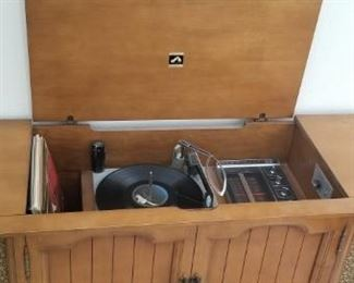 Vintage turntable console $225