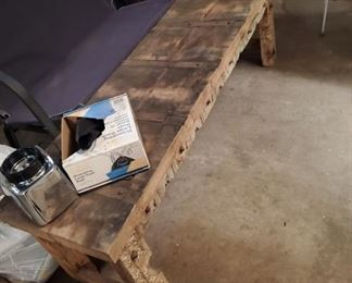 Primitive Wood bench (Heavy!)