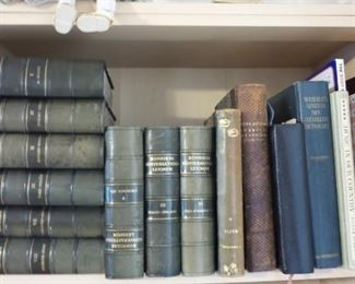 books and bibles.  Many antiquarian