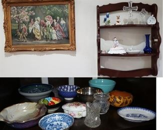 China and Crystal, collection of small bowls and pottery