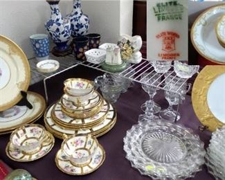 China Limoges, Paragon and Fostoria