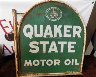 Quaker Sate Motor Oil Tombstone Sign