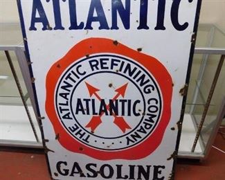 Porcelain Atlantic Gasoline Sign