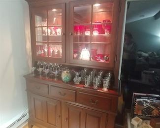 Hitchcock two-piece solid Cherry Hutch Only 650