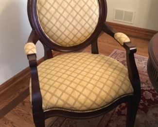 Round Back Dining Chairs (set of 8) 6 Side & 2 Arm Hickory White Furniture  Tuscan Home Collection Custom Fabric