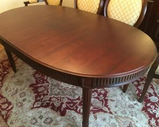 Anthology Collection Oval Dining Table Hickory White Furniture W 70 x D 42 x H 30