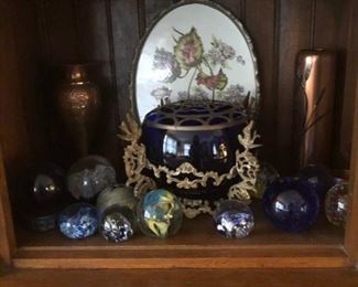 Paperweights , Cobalt Glass & More