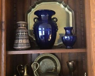 Cobalt Glass & Brass