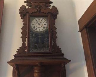 Mantel Clock and Shelf