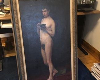 Oil Painting Male Nude