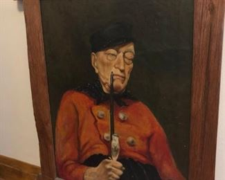 Man with Pipe oil Painting