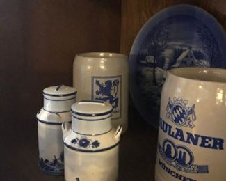 Blue & White Pottery Pieces