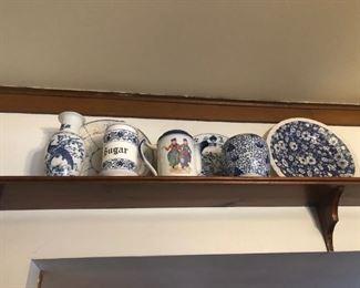 Blue & White Decorative Items