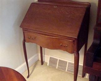 Antique Victorian drop leaf desk.
