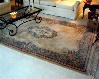 Chinese wool hand knotted oriental area rug