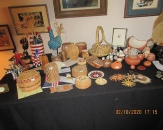 American Indian baskets & pottery