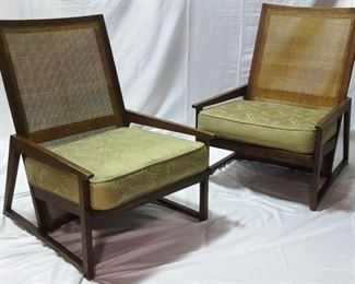 Danish caned back chairs
