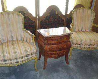 Vintage Side Chairs and Side Table