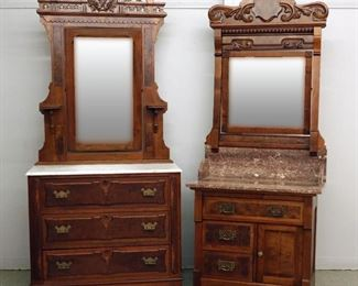 Victorian Marble top Dress & Commode
