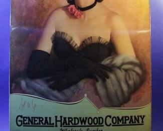 "52.	1961 pin-up calendar, ""Set to Go"", signed Zoe Mozert, from General Hardware Co., Detroit, 22x46"", sleeved."