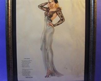 "60.	C/1940 pin-up litho, ""Cute Trick"", signed Alberto Vargas, 16x20, framed."