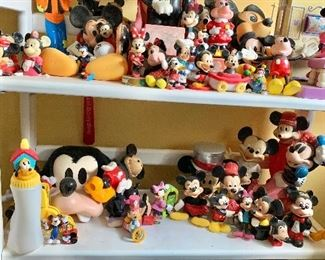 Disney and Mickey Mouse  and Minnie Mouse collectibles