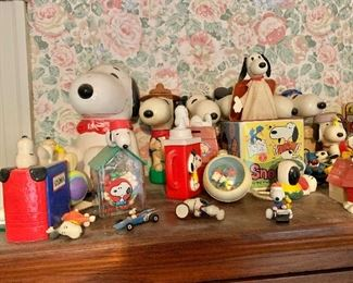 Disney and Snoopy collectibles