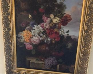 Floral Painting, unsigned