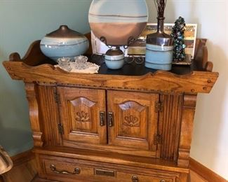 Dry sink and lovely decor