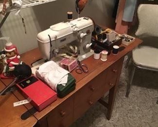 Pfaff sewing machine and wood cabinet